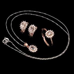 Gorgeous Genuine Morganite Earring Ring