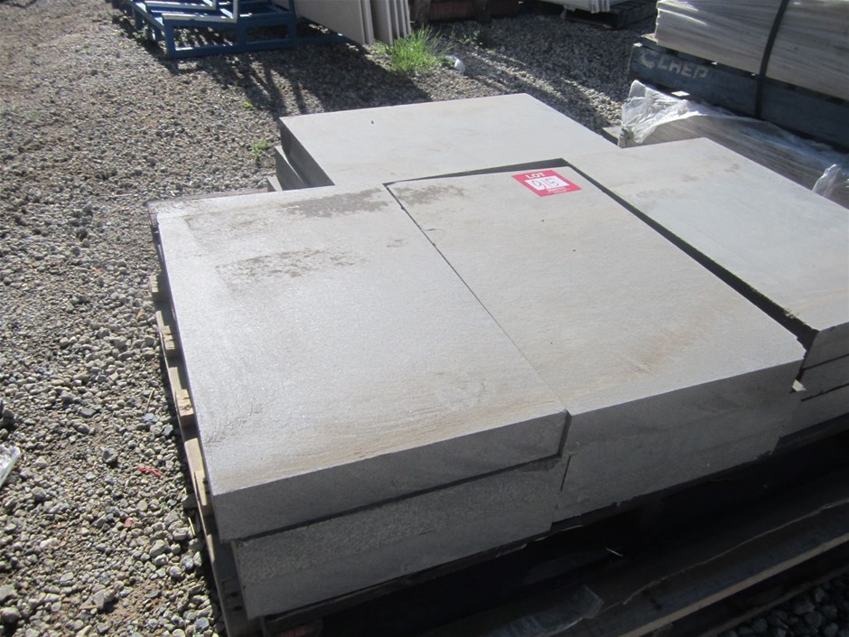 Pallet of 12 Assorted Bluestone Pavers.
