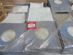 Box of Pearl Glass Mosaic Tiles. 295mm x
