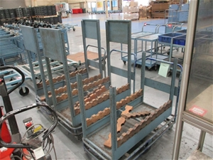 3 x Steel Fabricated Parts Trolley