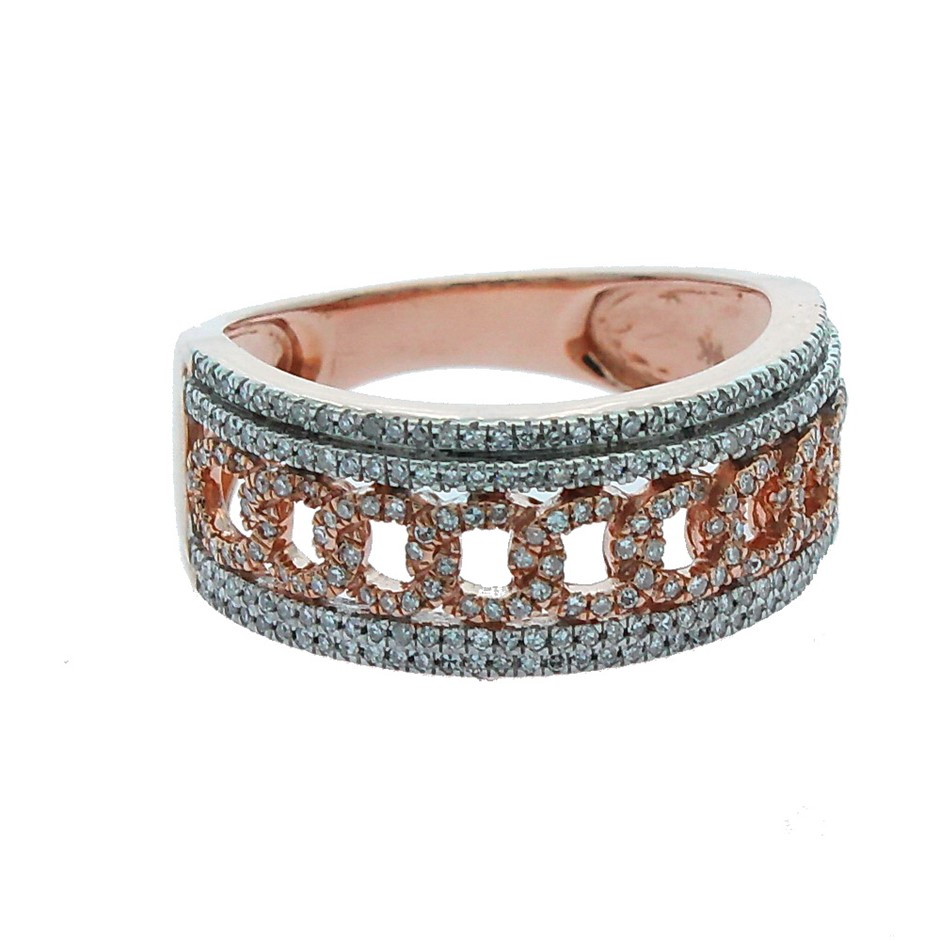 9ct Rose Gold, 0.34ct Diamond Ring