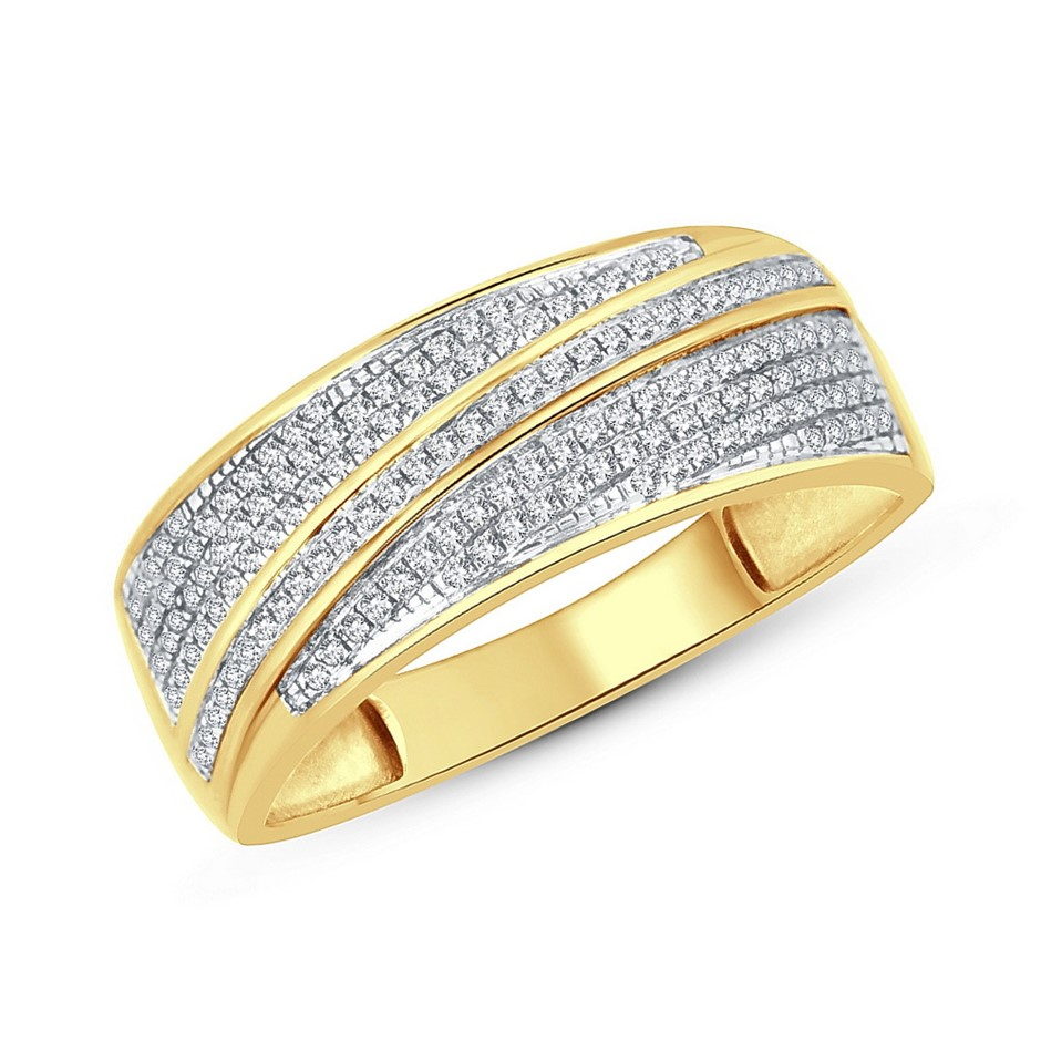 9ct Yellow Gold, 0.22ct Diamond Ring