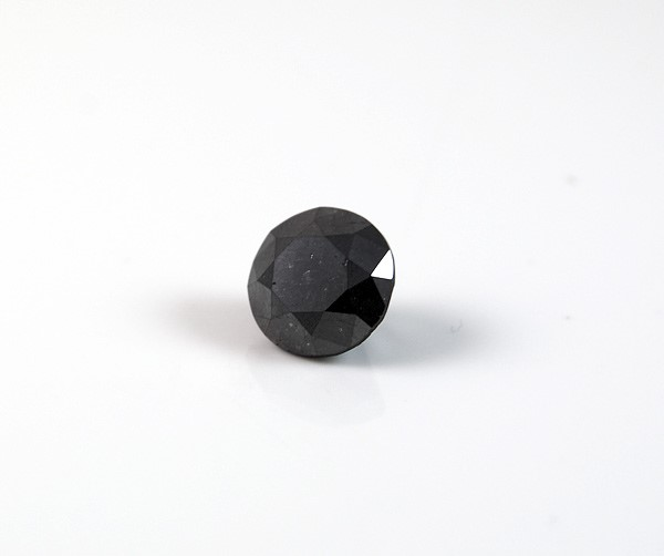 1.26ct Round brilliant cut natural black diamond