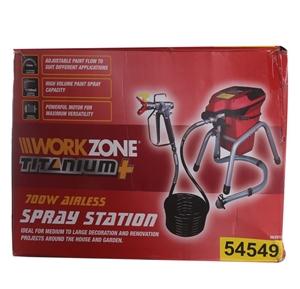 WORKZONE 700W Airless Spray Station c/w