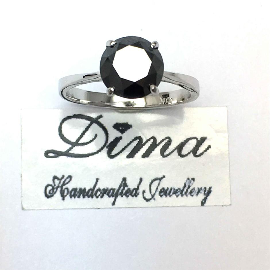 18ct White Gold, 2.58ct Diamond Ring