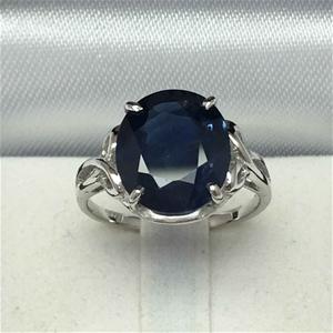 18ct White Gold, 5.80ct Blue Sapphire Ri