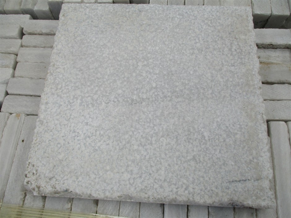 Qty 125 x Bushammered Marble Stone Tiles