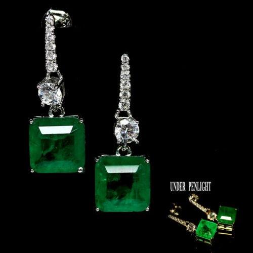 Beautiful Forest Green Doublet Emerald Earrings.