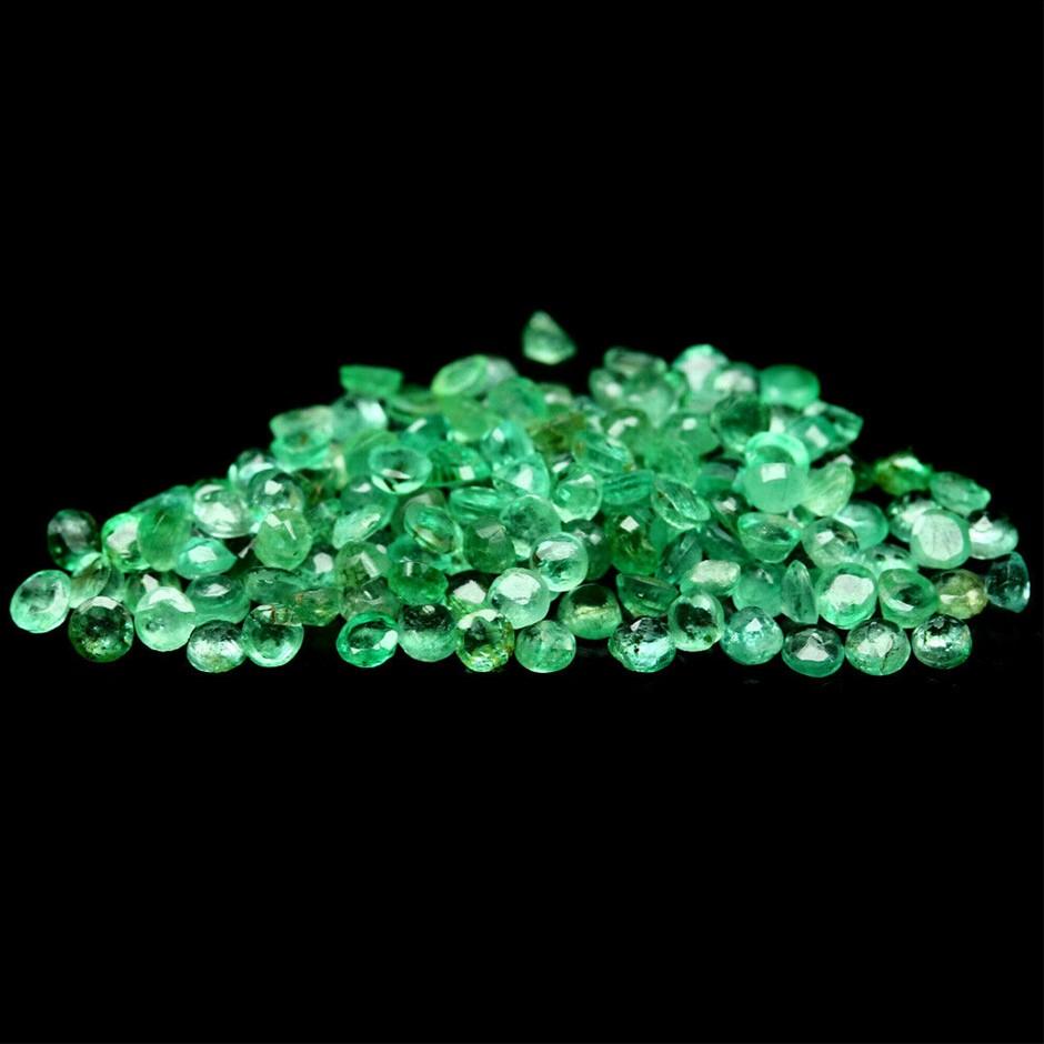 7.20ct (Approx. 231 pcs) Round Zambian Emeralds