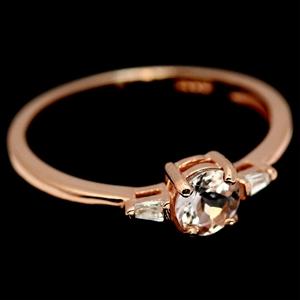Lovely Morganite Rose Gold Ring (Size 'N