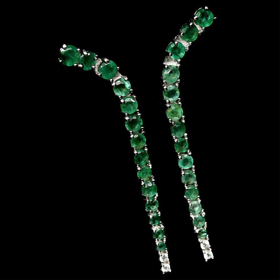 Gorgeous Long Emerald Earrings