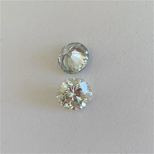 (2) Loose Synthetic Moissanite Off White