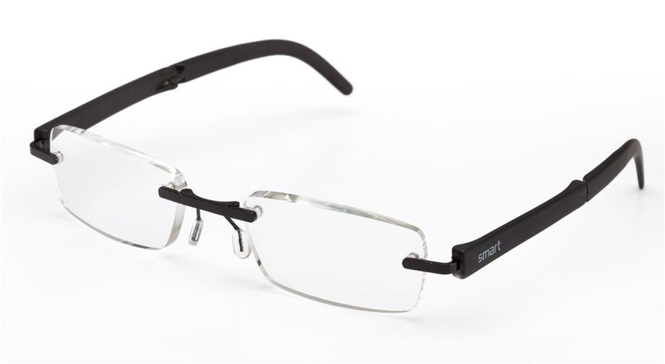 B+D SmartReaders- 5 x Folding Reading Glasses - Black ; 3x +2.00, 2x +2.50