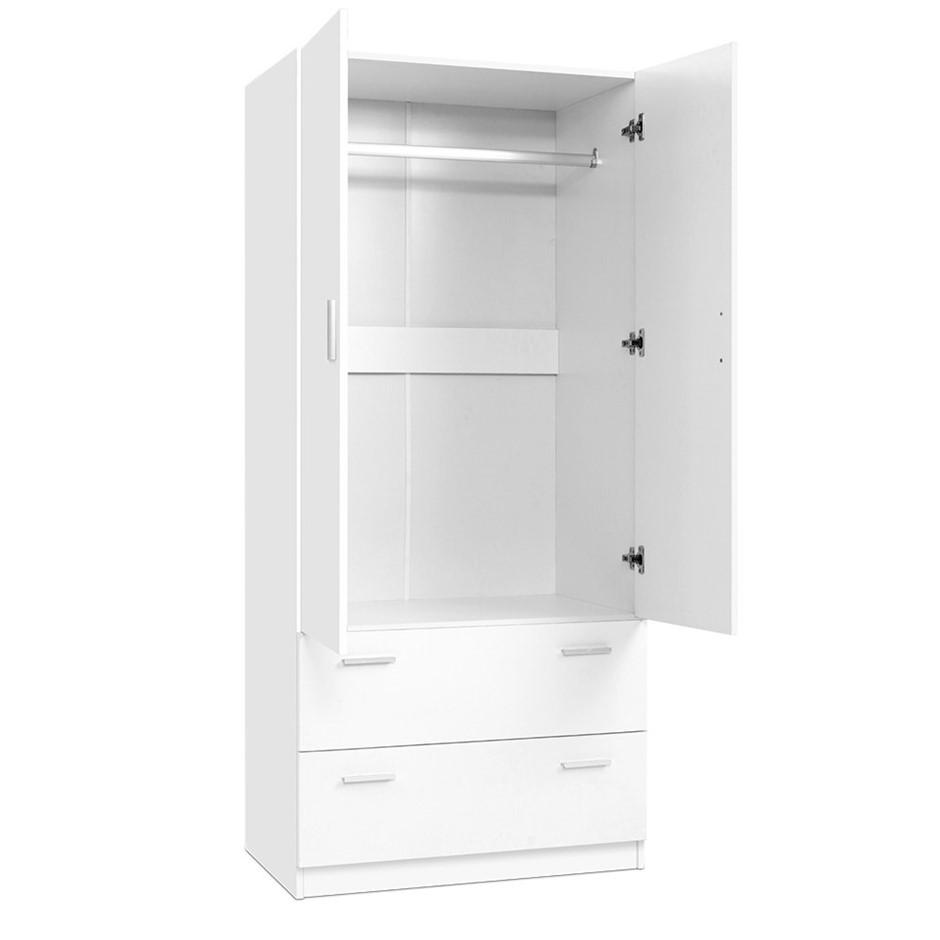 Artiss 2 Doors Wardrobe Bedroom Closet Storage Cabinet Armoire 180cm