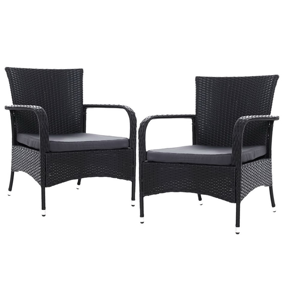 Gardeon 2x XL Outdoor Dining Chairs Patio Furniture Chair Wicker Garden
