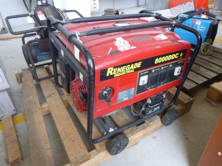 Renegade Industrial 8000 DC Small Petrol/Electric Generator