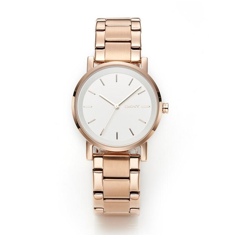 Designer DKNY Soho Rose Gold-tone Ladies Watch