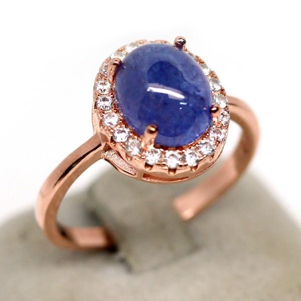 Striking Genuine tanzanite Solitaire Ring.