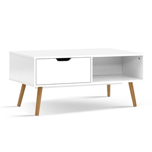 Artiss Coffee Table Storage Drawer Open