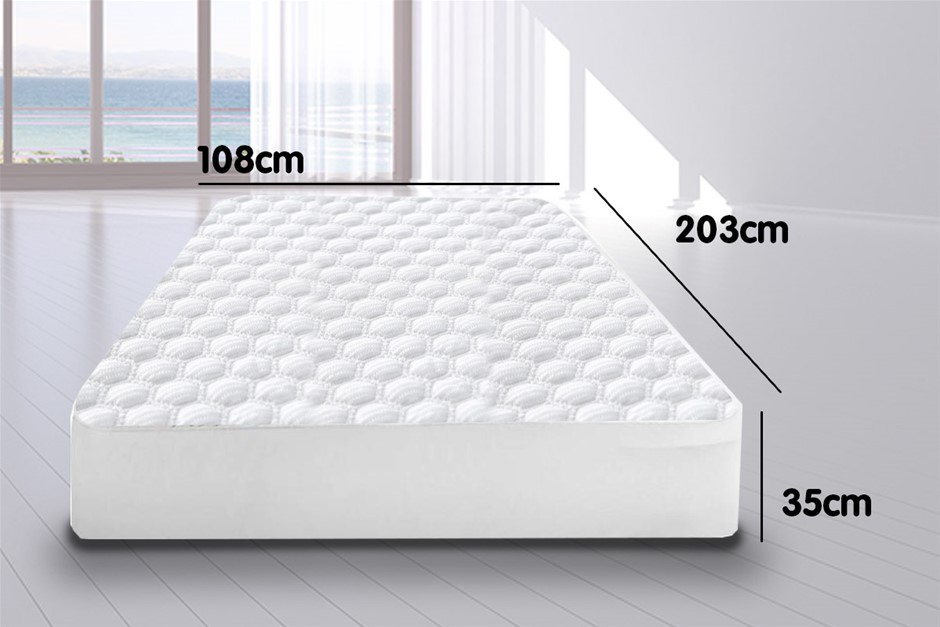 Laura Hill Fitted Cool Max Mattress Protector - King Single Size