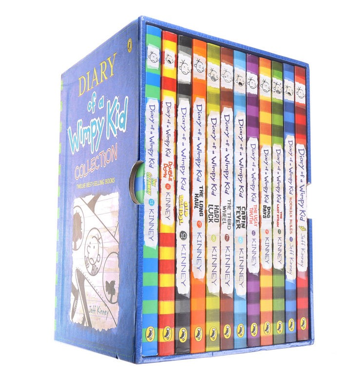 12 x DIARY OF A WHIMPY KID Collection Books- Best Selling Books. (SN:CC4634