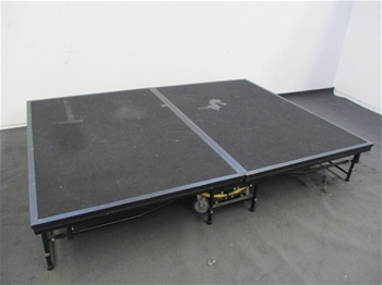 Qty of Sico Mobile Portable Folding Stage