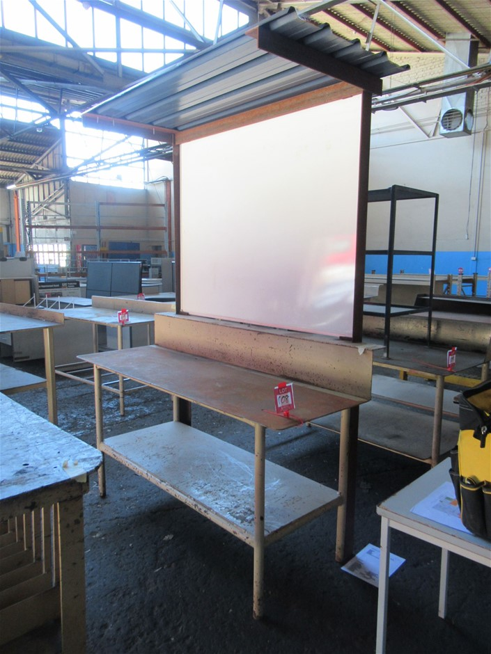 Steel Workbench With Whiteboard (Enfield, SA)