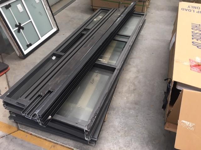 Set of 3 Sliding Aluminium Doors