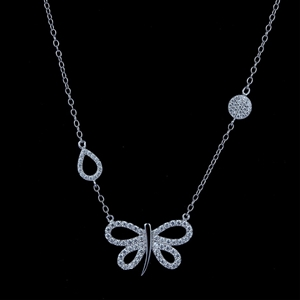 Genuine Sterling Silver butterfly chain