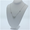 Genuine Sterling Silver butterfly  chain necklace 41 cm