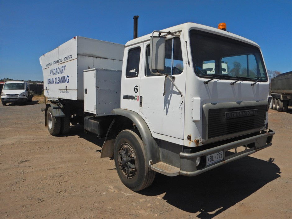 1990 International Acco 1850D 4x2 Drain Cleaning Truck (Pooraka, SA)
