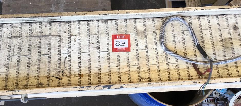Plastic Conveyor Belt (2500MM X 260MM). SEW-Urodrive 0.37kW.