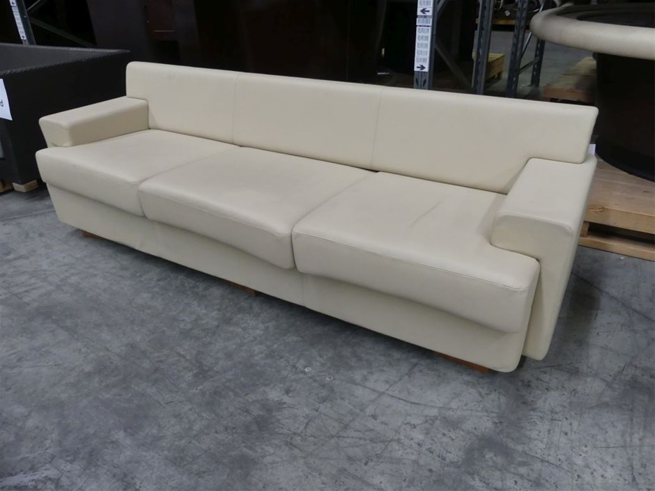 3 Seater Vinyl Couch
