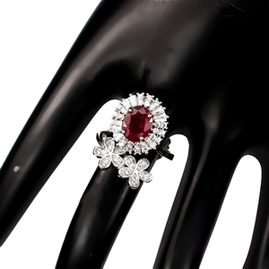 Gorgeous Unique Genuine Ruby Ring.