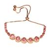 Pretty In Pink Genuine Tourmaline Tennis Bracelet