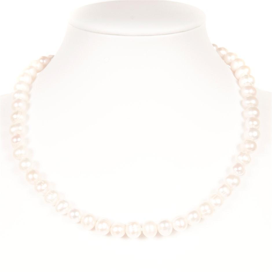 Set Of Freshwater Pearl Necklace, Bracelet & Earrings.