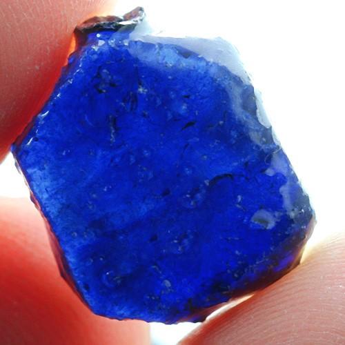 14.3ct. Genuine Uncut Blue Sapphire