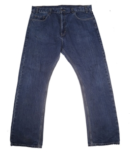SIGNATURE Dark Denim Straight Leg Jeans,