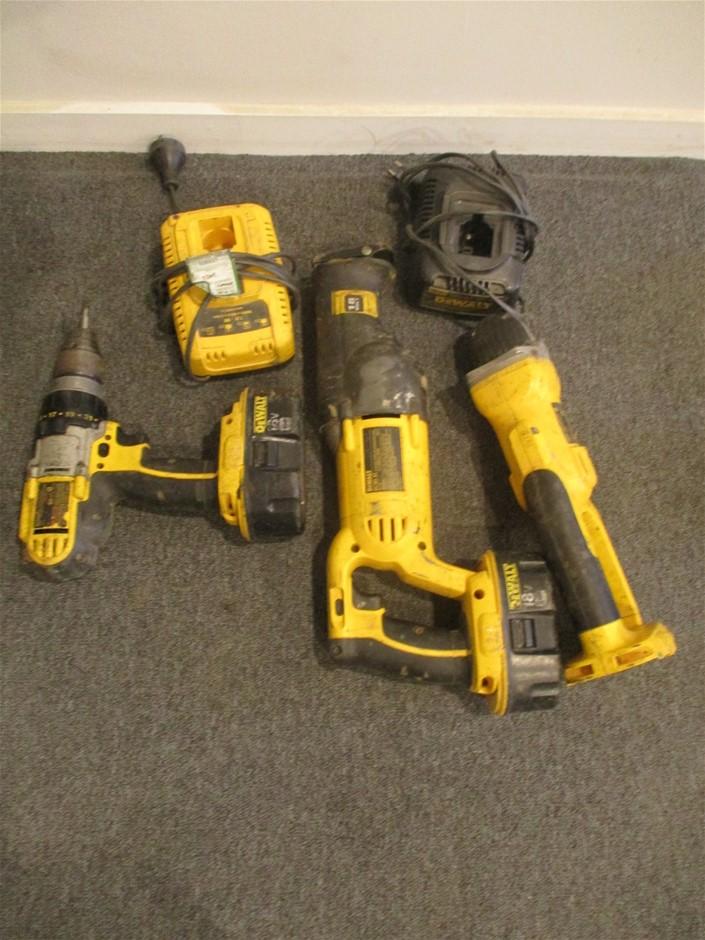 3x Assorted DeWalt 18V Cordless Tools