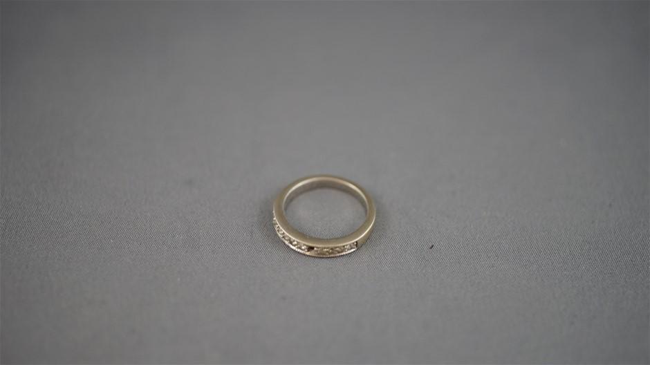 Stamped 9ct White Gold Ring