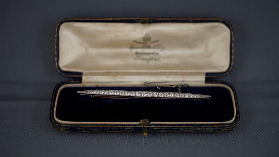 Gold & Platinum Vintage Brooch