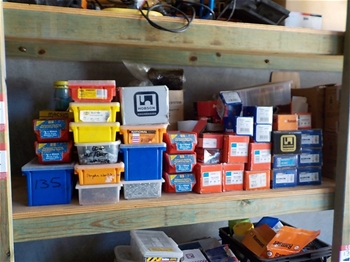 Large Quantity of Various Fasteners