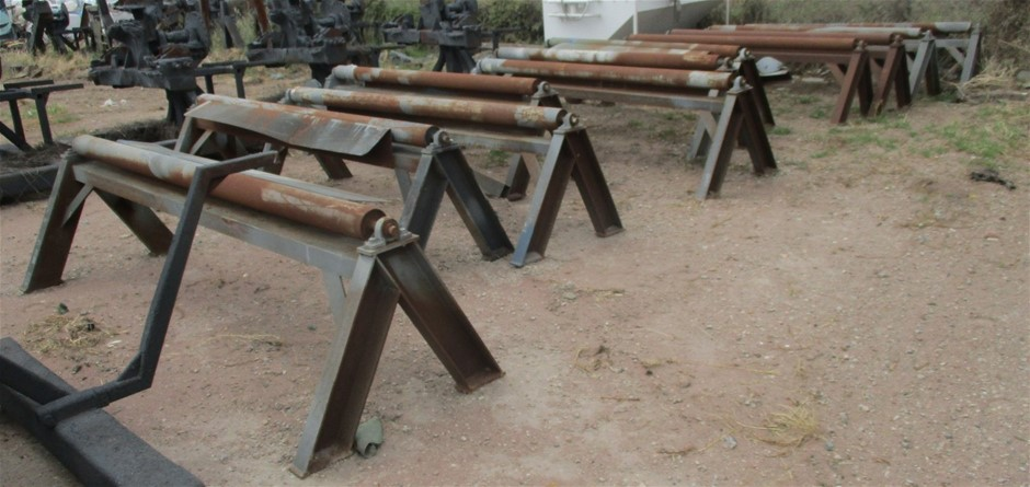 11x Steel Fabricated Single Rollers