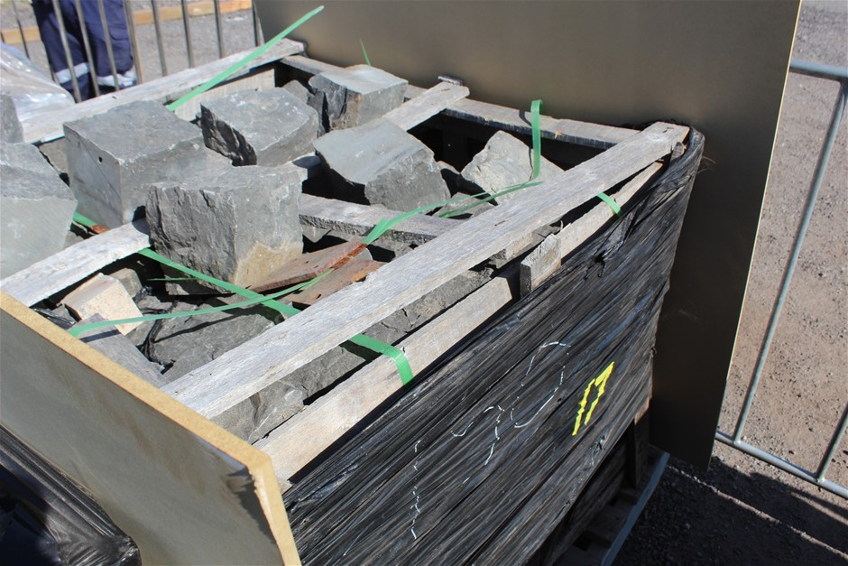 1x Wood Crate of Basalt Coble Stone Blocks