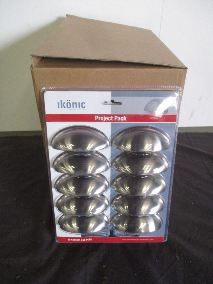 8 Packets of Ikonic Cabinet Cup Pull handles
