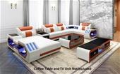 Elegance Euro Design Bonded Leather Modular Lounges & tables