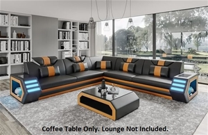 Elegance Euro Design Bonded Leather Coff