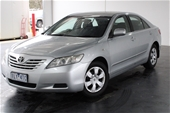 Unreserved 2007 Toyota Camry Altise ACV40R Auto Sedan