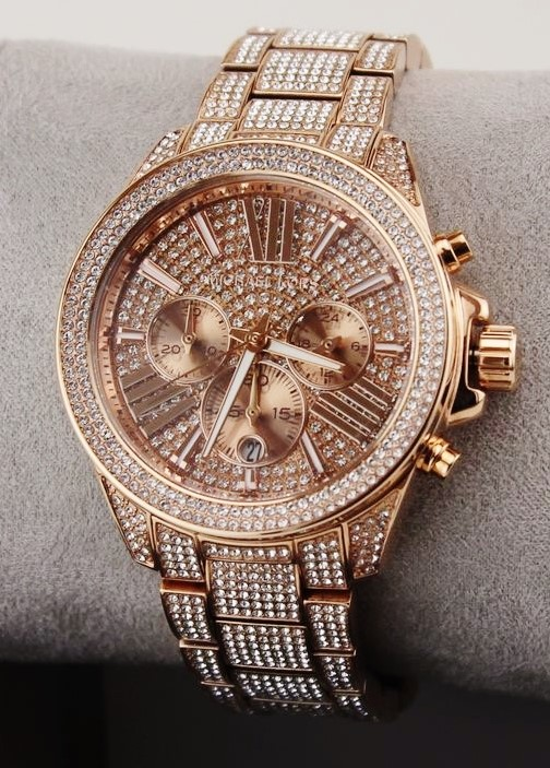 New Michael Kors 'Wren' gemstone ultra glamorous watch