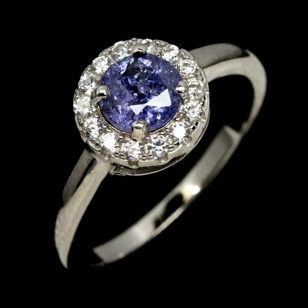 Beautiful Genuine Tanzanite Solitaire Ring.